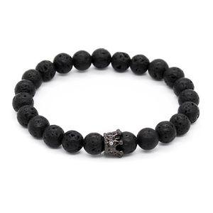 Men's 8Mm Natural Lava Stone Beads Bracelets